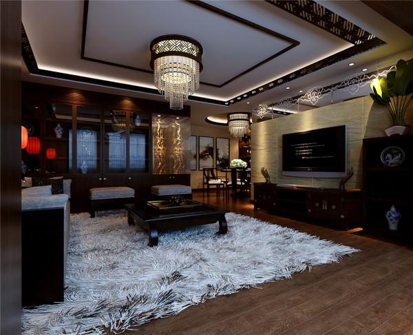 基于二次装修,整体风格定位新中式,暖色调的厚重色彩及质感强烈的材质的运用体现了业主大气、稳重的性格特点。