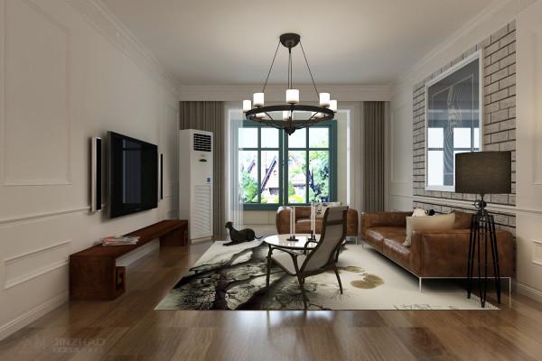 客厅:躺椅、中国风的地毯,复古的沙发,充满时尚艺术气息的吊灯给客厅增色不少,这样的居室空间,当然是年轻人的最爱!