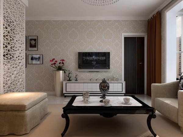 客厅电视墙位置的设计效果,不用过多的装饰,简单反而有一种舒适的美,小户型装修设计在于整体的把控处理。