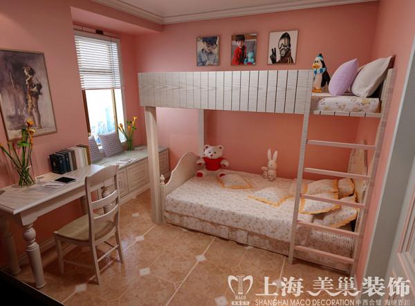 永威翡翠城美式乡村90平两室两厅装修案例效果图——儿童房效果图