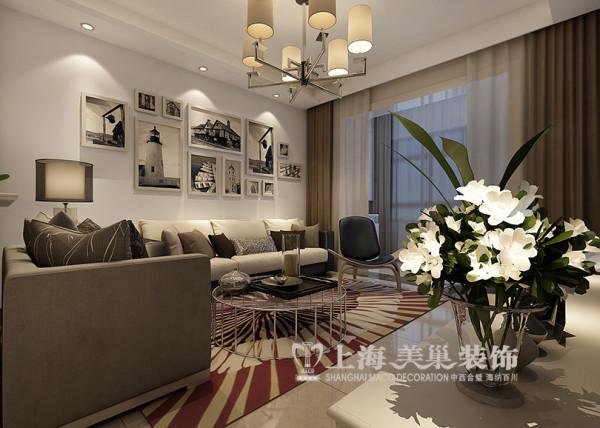 上东城90平2室2厅现代简约风格装修效果图--沙发背景墙