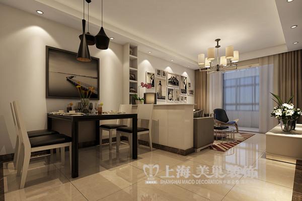 上东城90平两室两厅现代简约风格装修效果图--餐厅