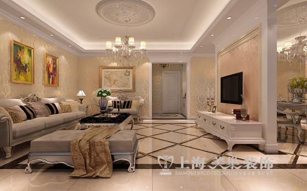 鑫苑世家180平四室两厅简欧风格装修效果图--客厅