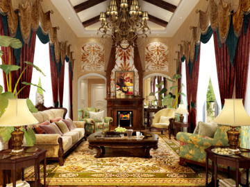 长泰西郊别墅装修美式风格设计