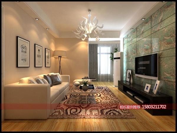 这是客厅整个空间全景,色彩明亮而又和谐,顶面造型很有层次感,相信设计师也是费了不少心思才搭配出来的,所以找个适合您的设计师非常关键。