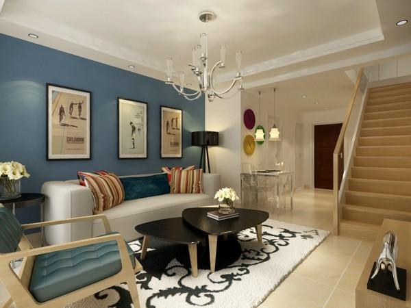 本案是一个两室两厅户型,环保问题是考虑的重中之重,在户型上做了一些很好的拆分,增大了厨房橱柜的面积,由于是两口之家,顾餐桌采用折叠式的,小空间大利用。