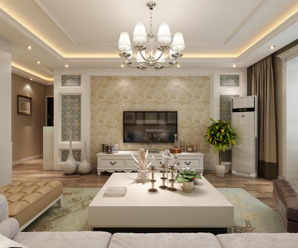 欧式客厅的装修运用了大量的黄色来打造,展现出古典的奢华感。而客厅中的地板、地毯、沙发的颜色以及精湛的制作工艺,具有婉转、柔和的特色。加上布艺窗帘大点缀,使得客厅更加华丽精巧的贵族气质。
