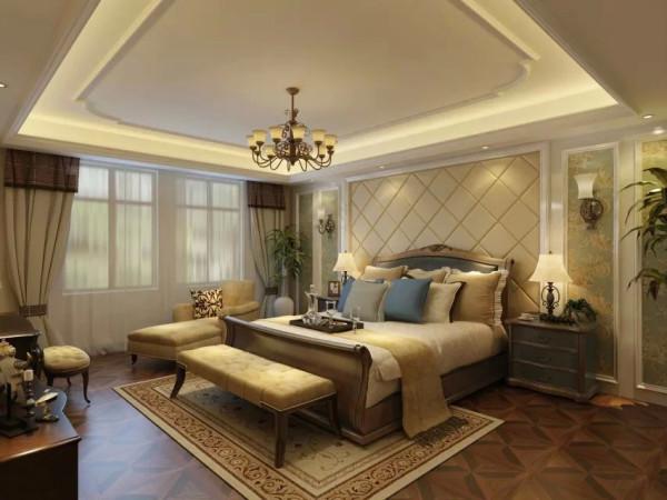 欧式风格的卧室宜选用现代感强烈的家具组合,特点是简单、抽象、明快、现代感强,组合家具的颜色选用白色或流行色,配上合适的灯光及现代化的电器,比如音像器材,就仿佛为主人编织了一个明快美丽的梦想