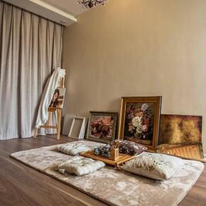 二居 客厅 卧室 餐厅 厨房 美式 2居 黄色 奢华 其他图片来自实创装饰晶晶在经纬城市92平美式2居婚房温馨家的分享