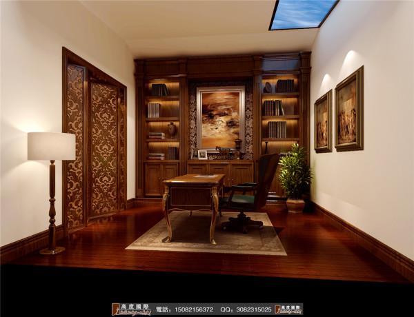 世茂玉锦湾书房细节效果图----高度国际装饰设计