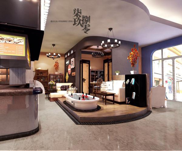 七九八零工装设计 高碑店胶囊咖啡店
