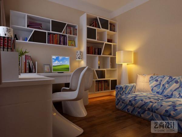 财信圣地亚纳3室2厅130平方装修案例-书房布局装修效果图