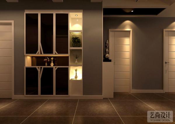 财信圣地亚纳三室两厅130平方装修方案-玄关储物柜装修效果图