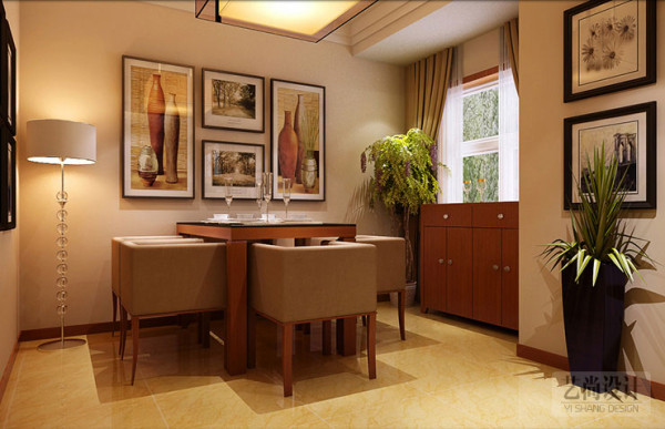 农大家属院140平方三室两厅现代简约装修案例--餐厅效果图