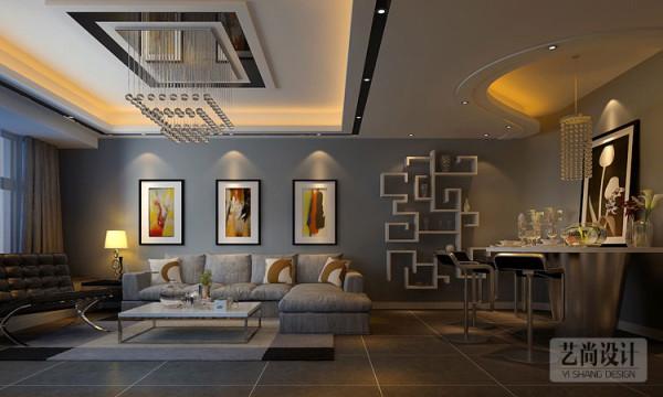 财信圣地亚纳三室两厅装修案例-客餐厅装修效果图