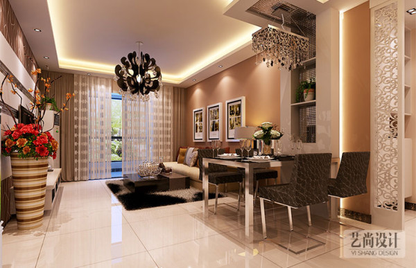 正商明钻两室两厅89平方装修效果图