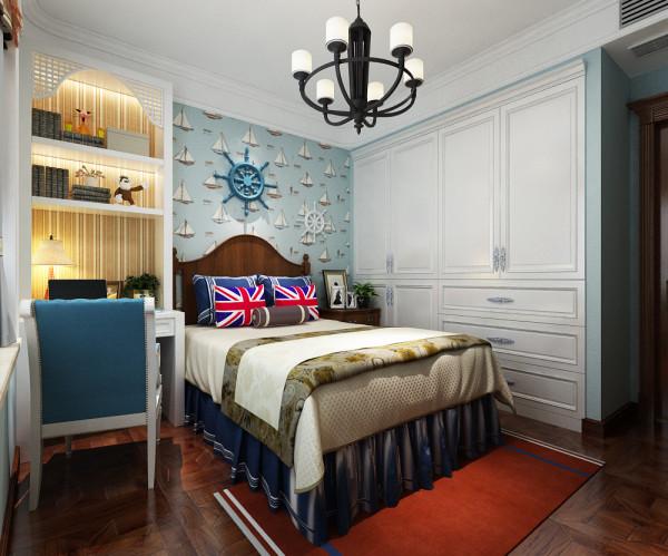 奥北公元8号楼131㎡欧式装修效果图——卧室装修效果图