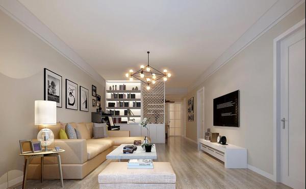 正商中州城装修110平三室两厅装修设计效果图