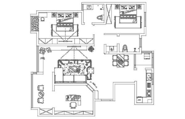农大家属院140平米三室户型图