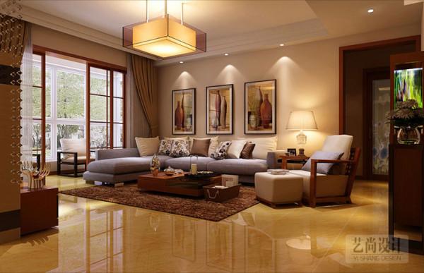 客厅吊顶使用石膏线造型出层次区分,在视觉上挑高房间高度,使房间更加透彻明亮。大户型的现代简约不仅要设置多个隔断达到空间隐蔽性的效果,还要保证隔断避免阻挡阳光照射,使整个房间明亮温暖。