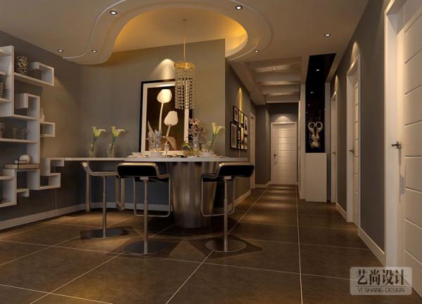 财信圣地亚纳三室两厅装修案例-餐厅造型装修效果图