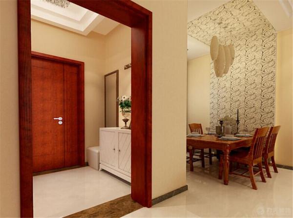 在卧室的设计中。也没有做过多的装饰,在家具的设计上也采用了木质的家具来和客厅呼应。