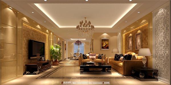 中海九号公馆客厅细节效果图----成都高度国际装饰