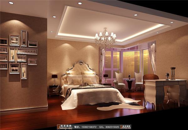 中海九号公馆卧室细节效果图----成都高度国际装饰