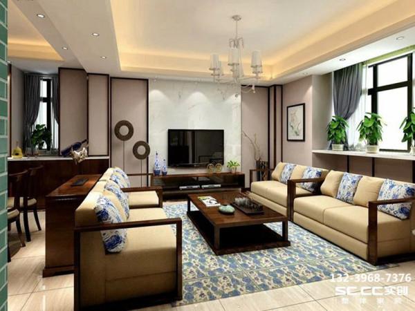 设计 理念客厅整个空间用富含的青花做点缀,青花作品用其简练的夸张多变装饰手法以及精炼概括的纹样处理,表现出来一场丰富的艺术形式