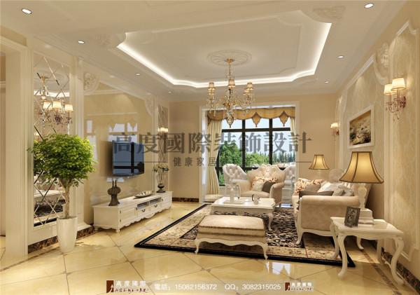 汇锦城客厅细节效果图---高度国际装饰设计