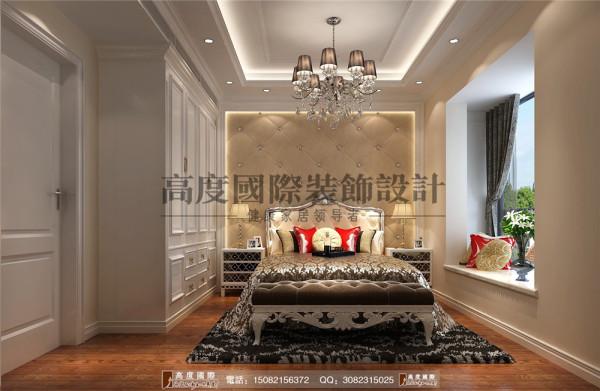 汇锦城主卧室细节效果图---高度国际装饰设计