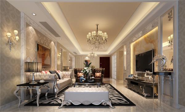 本案的设计风格为简约欧式,客厅则营造出典雅,自然,高贵的气质以及浪漫的情调。简单而自然的生活空间能让人瞬间得到宁静与安逸的感觉!