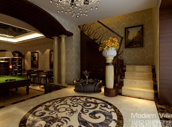 欧式 混搭 别墅图片来自山东尚舍别墅装饰在原山九号样板间的分享