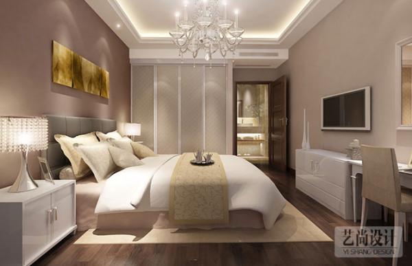 财信圣提亚纳2事2厅现代简约样板间装修方案---卧室装修效果图