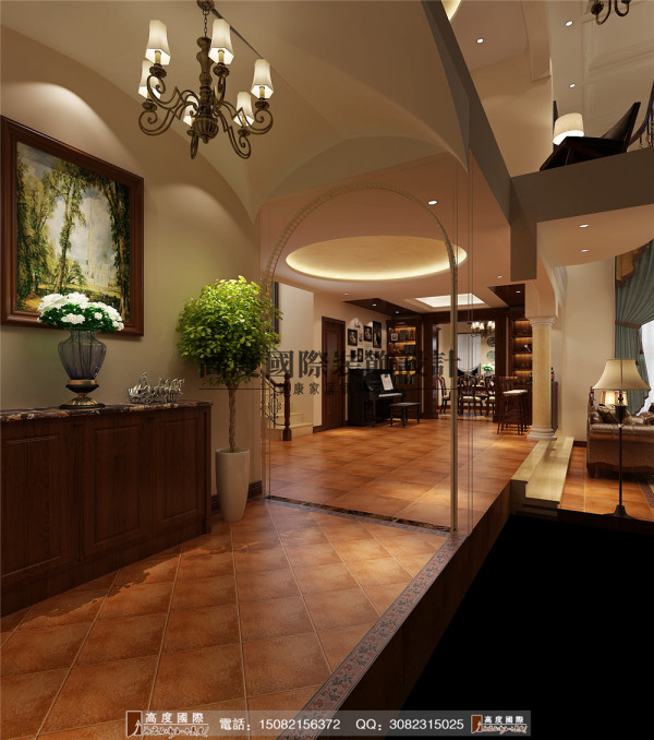 锦丽园门厅细节效果图----成都高度国际装饰设计