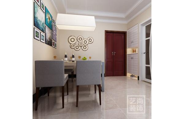 祝福红城77.49平方两室两厅装修效果图--餐厅