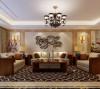 沙发背景墙,石材边框,暖暖的壁灯,温馨的家舒服的光源,美!