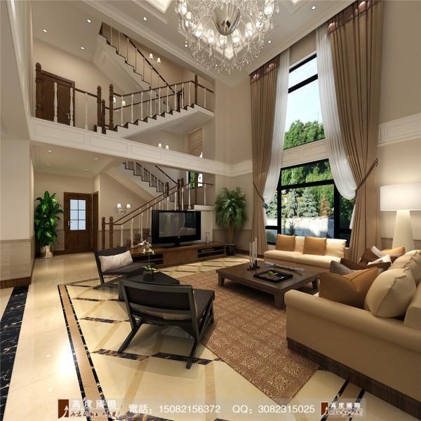 恒大金碧天下客厅细节效果图---高度国际装饰