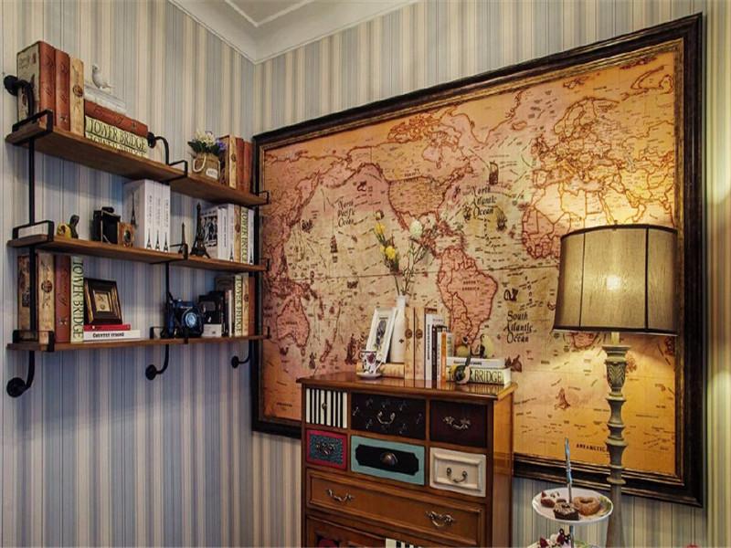 众意装饰 美式 三居 书房图片来自众意装饰在保 利 茉 莉 公 馆的分享