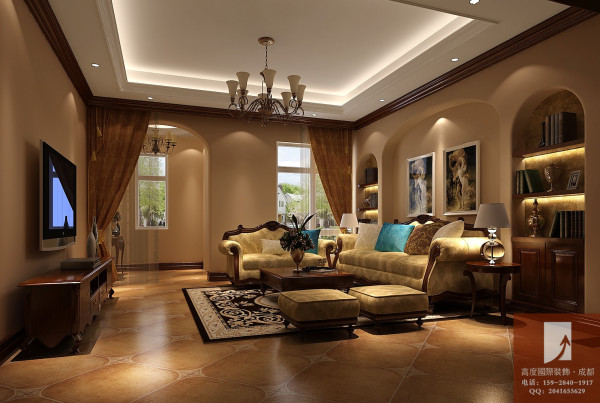 托斯卡纳风格  高度国际 客厅