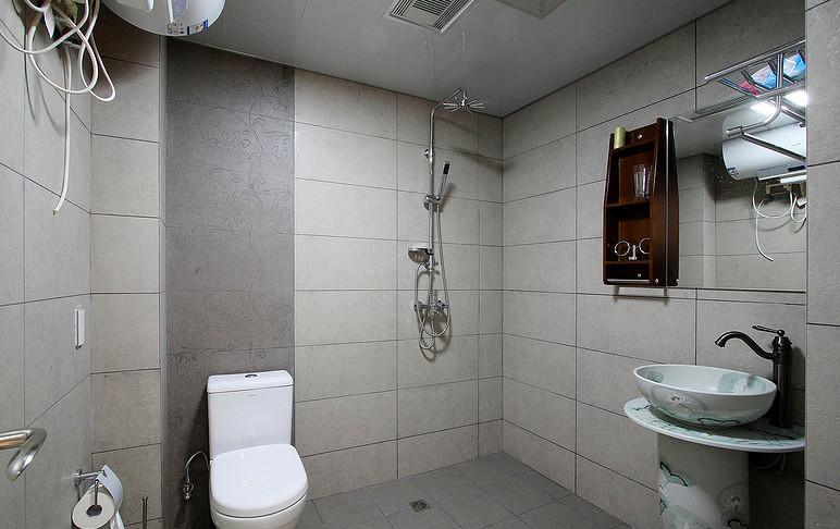 卫生间图片来自家装大管家在素雅自然休闲 105平简约舒适3居的分享