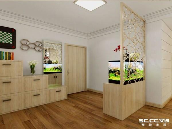 卫生间门与电视墙一体原本显得很突兀,但与石膏板完美结合,加上拉缝让整个空间显得更加敞亮。