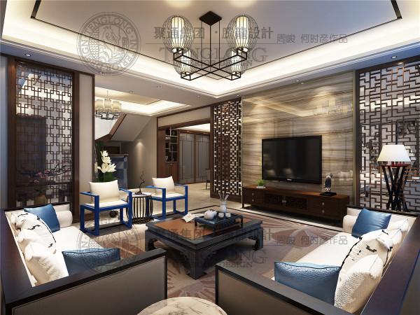 白金汉宫别墅装修现代中式风格设计参考方案展示,腾龙设计师周峻作品,欢迎品鉴