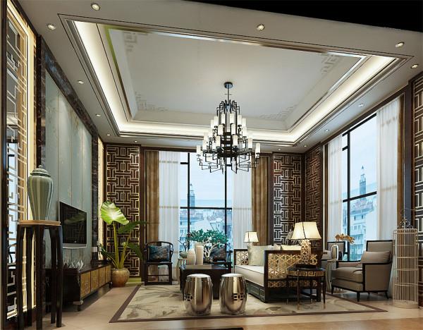 新中式风格设计方案展示,腾龙设计师刘真桢作品,欢迎品鉴!