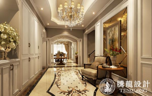 东郊紫园400平别墅户型装修欧式古典风格设计参考方案展示!腾龙设计师刘真桢作品,