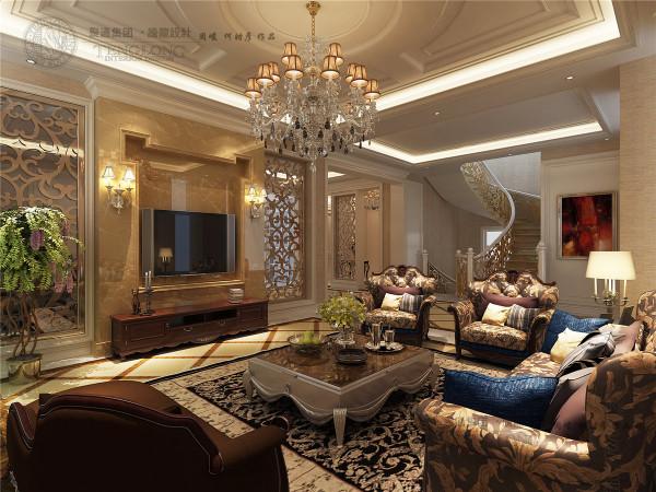 白金院邸别墅装修新欧式风格设计方案展示,腾龙设计师周峻作品,
