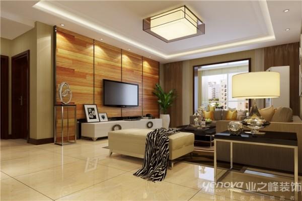 在空间色调上以暖色素净的色彩充斥空间的温馨与舒适的氛围,让空间效果达到自身的明快与简洁,在客厅这一主体空间里采用了木地板上墙的特有属性纹理几何黑色钛金钢条的修饰,给空间营造出一种氛围与主题,