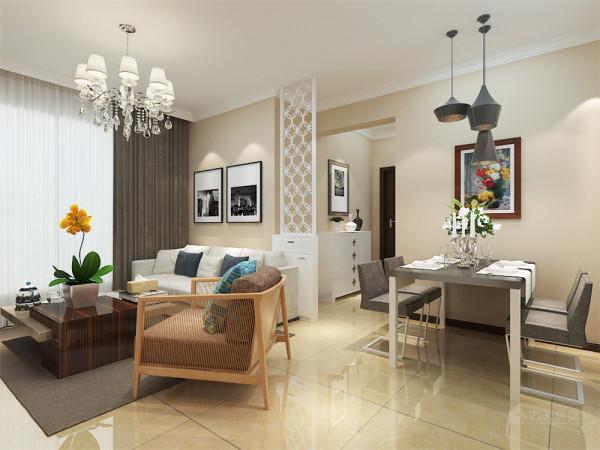 本案为旷世新城,两室两厅一厨一卫77㎡户型。本案风格定义为现代简约。现代简约是以简约为主的体装修风格,将设计的元素、色彩、照明、原材料简化到最少的程度,让所有的细节看上去都是非常简洁的。