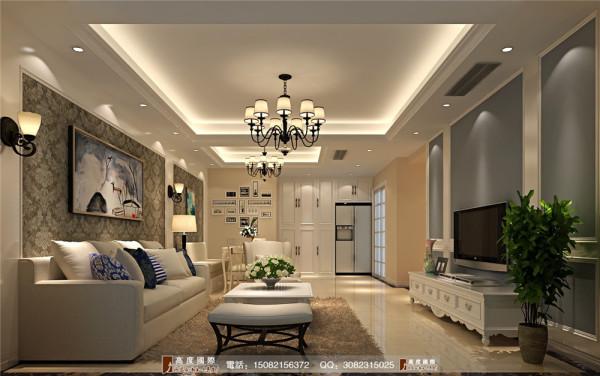 天悦府客厅细节效果图----高度国际装饰设计