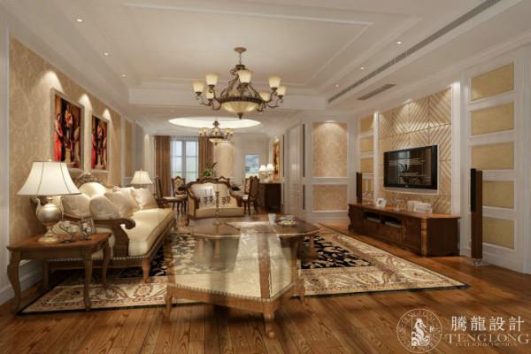 古北大城公馆125平三居室户型装修欧式风格设计方案展示,腾龙设计师祝炯作品,欢迎品鉴!